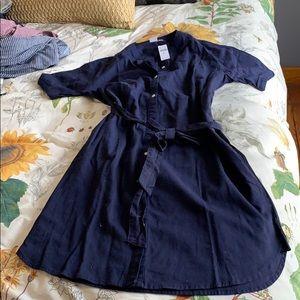 NWT Gap linen button down shirt dress